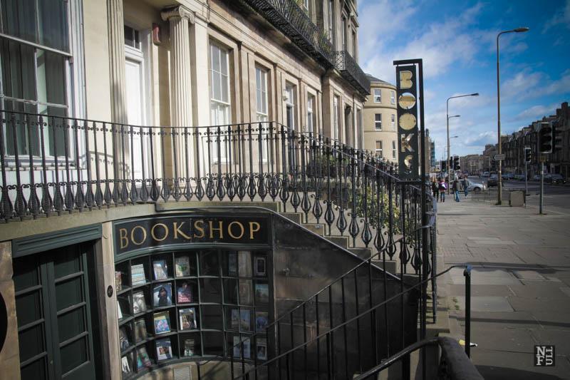 Small bookshop in Leith, Edinburgh, Scotland