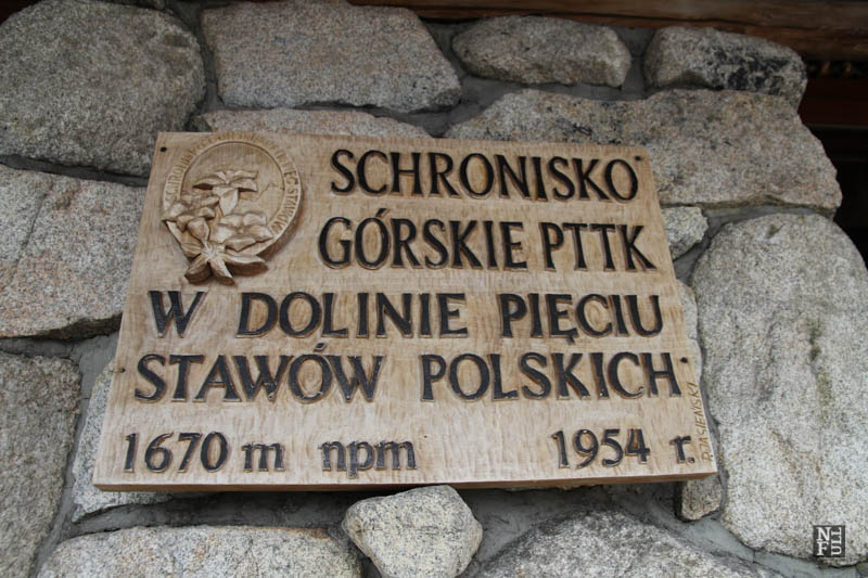 A mountain refugee administrated by PTTK, Tatry, Poland.