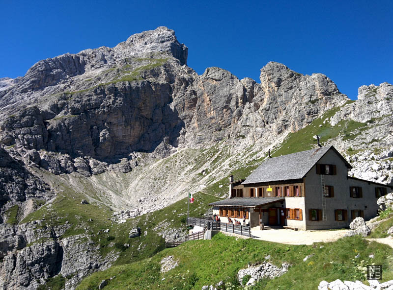 Rifugio Coldai, the Dolomites, Italy.