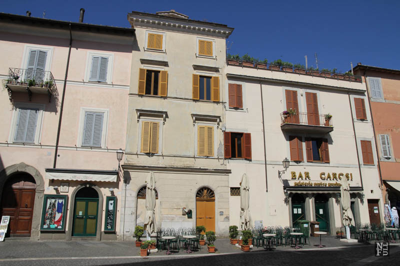 The main square of Castel Gandolfo, Italy