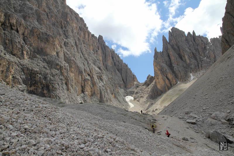 Rocks. The dolomites, Italy.