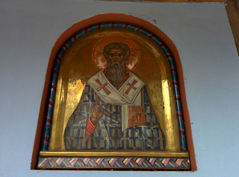 The wellspring protected by icon of the saint, Grabarka, Podlasie.